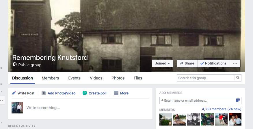 Social Media - remembering Knutsford